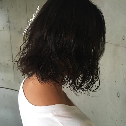 横浜美容室ラムデリカ.キクチの黒髪パーマボブ