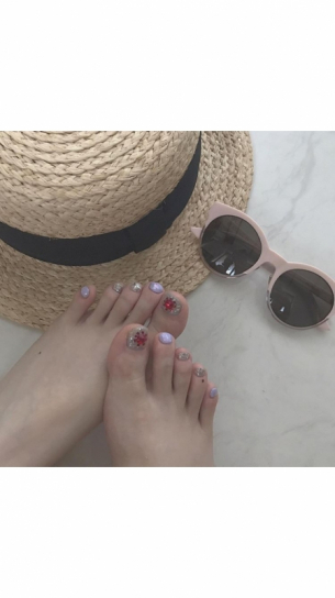 ♡  foot nail  ♡