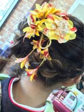 ルーズで可愛い編み込みヘアセット♪