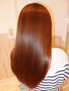 美髪ストレート