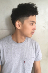 若く見えるメンズヘア 黒髪大人ショート