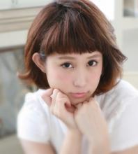 厚めパッツン前髪に似合う2パターンキュートボブ☆