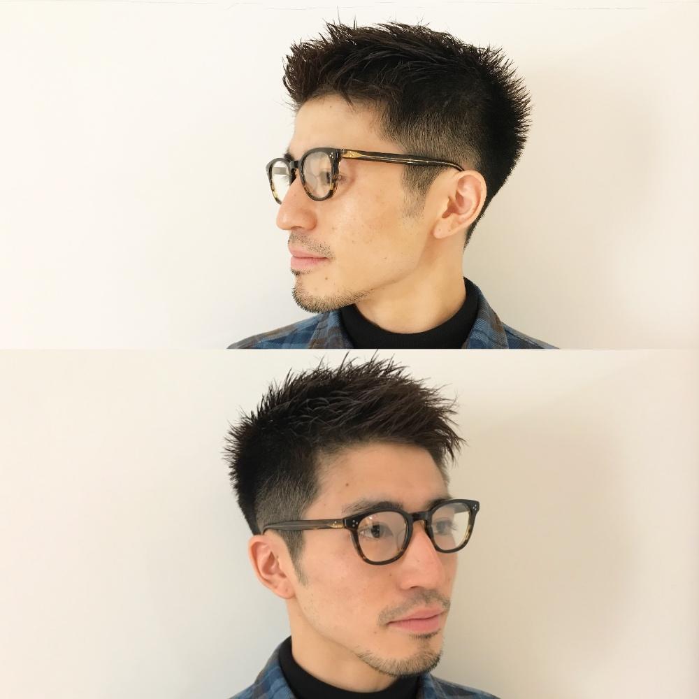 メンズ刈り上げ×グラデーションソフトモヒカン