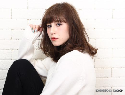 ミディアムボブ PEEK-A-BOO 栗原貴史