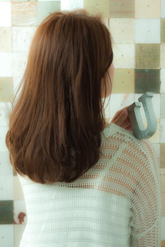 縮毛矯正 髪型 ロング