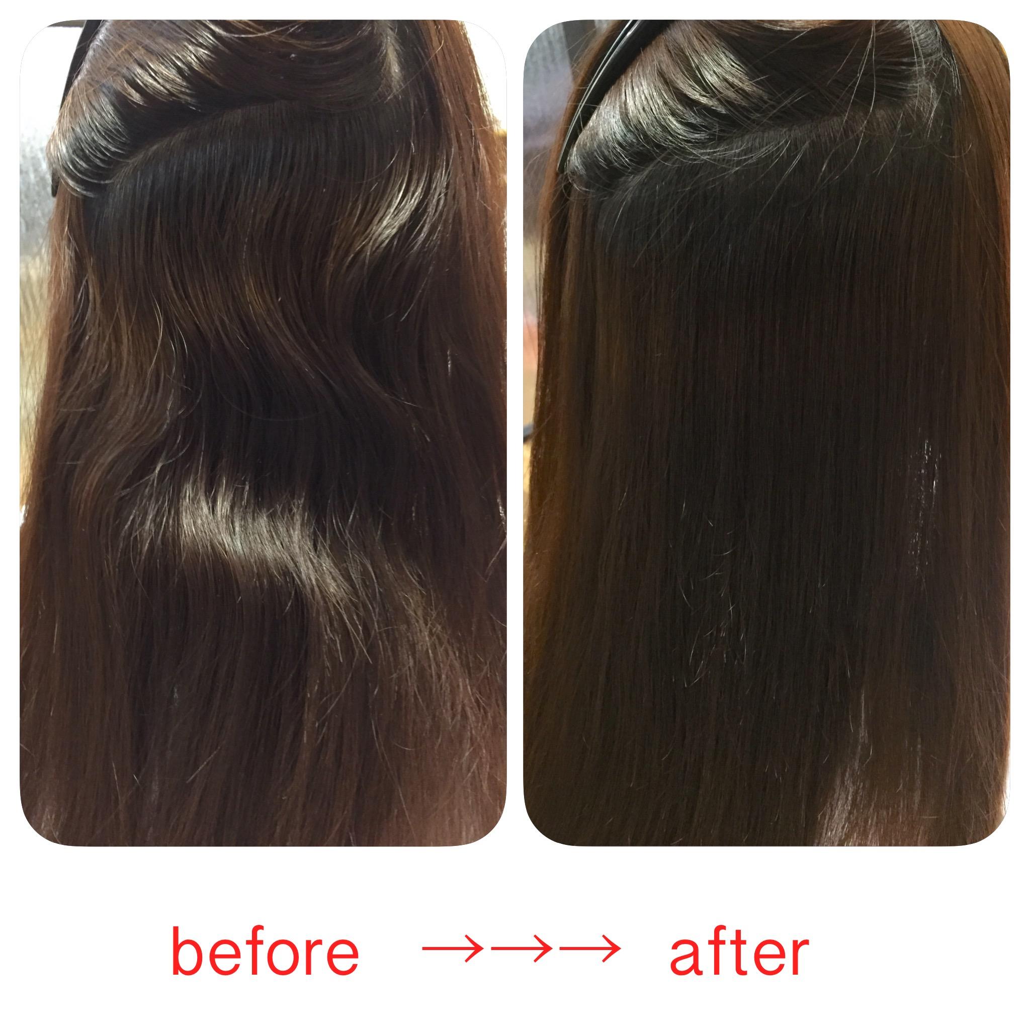 改善 の 縮 質 矯正 違い と 毛 髪