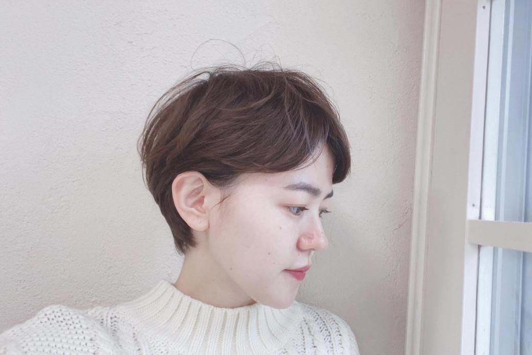 大人っぽい雰囲気のハンサムショートヘア
