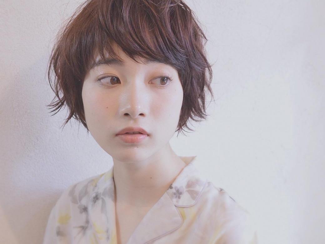 【前髪あり】×パーマ×ショートヘア