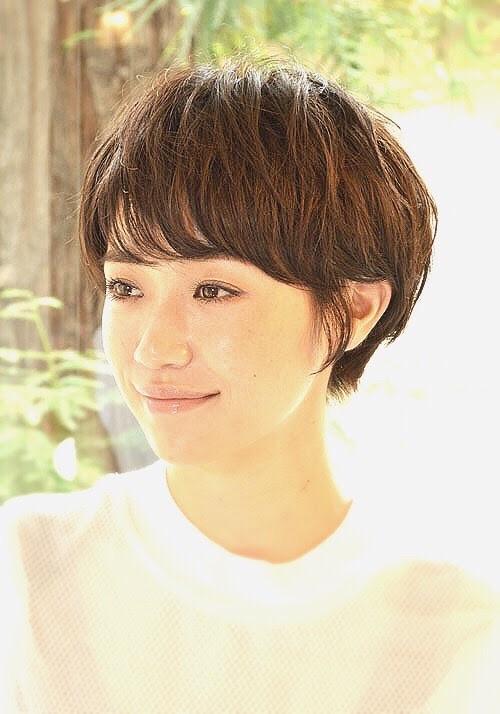 【直毛】×パーマ×ショートヘア