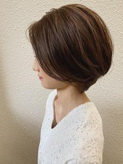 ショートヘア  スタイリング ワックス 横顔